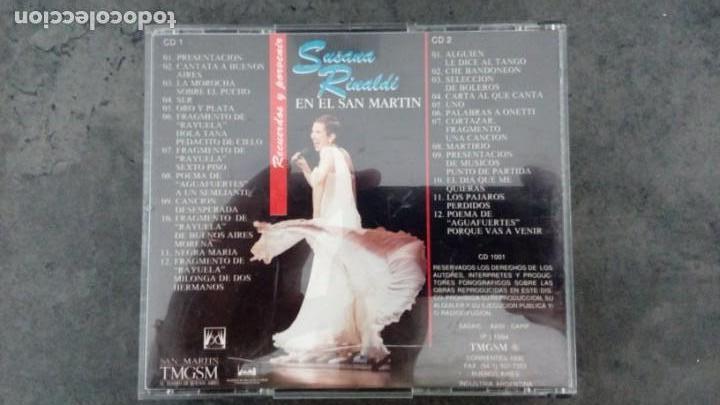 CDs de Música: Susana Rinaldi en el San Martín. Tango y folclore - Foto 2 - 171741569