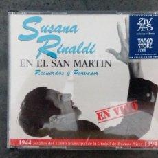 CDs de Música: SUSANA RINALDI EN EL SAN MARTÍN. TANGO Y FOLCLORE. Lote 171741569