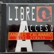 CDs de Música: LIBRE ACCESO + EL REGRESO. ANDRÉS CALAMARO. Lote 171741660