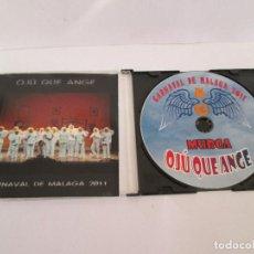CDs de Música: CD CARNAVAL DE MALAGA 2011 - OJU QUE ANGE. Lote 171779952
