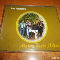 CDs de Música: LOS SECRETOS MENOS DECIR ADIOS CD SINGLE PROMO 1996 1 TEMA ENRIQUE URQUIJO ALVARO URQUIJO. Lote 171818950