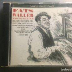 CDs de Música: CD FATS WALLER AND HIS RHYTHM. Lote 171829893