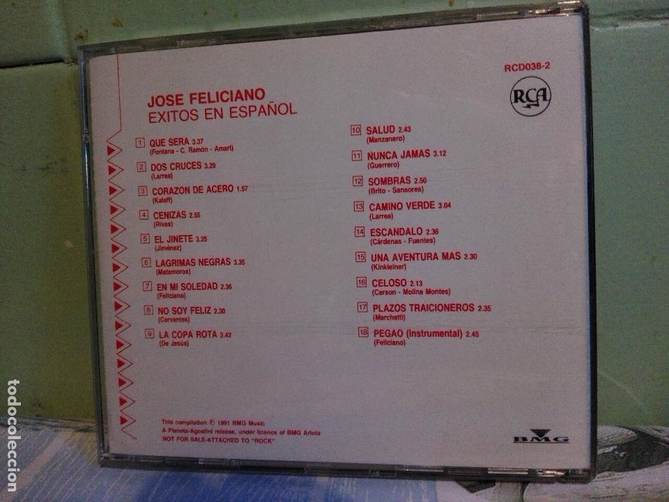 CDs de Música: CD JOSE FELICIANO, 18 EXITOS EN ESPAÑOL QUE SERA, DOS CRUCES, CAMINO RCA BMG 1991 PEPETO - Foto 2 - 171835987