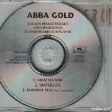 CDs de Música: ABBA - ABBA GOLD (MAMMA MIA/WATERLOO/MAMMA MIA VERS. ESPAÑOLA) (CDSINGLE PROMO, POLYDOR 1992)). Lote 171866533