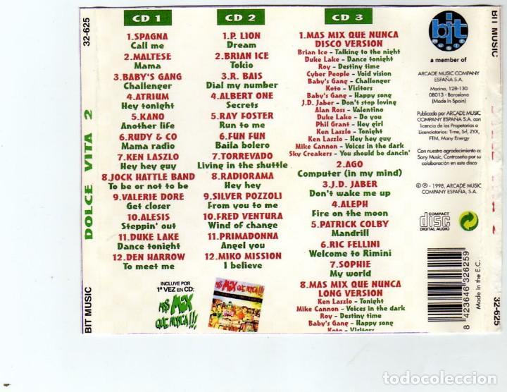 CDs de Música: dolcevita 2 - lo mejor del italo-dance (3cds) 1998 - Foto 2 - 172032598