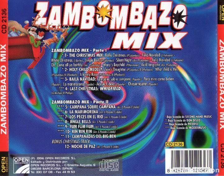 CDs de Música: zambombazo mix (1cd) 1996 - Foto 2 - 172032683