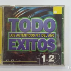 CDs de Música: TODO EXITOS LOS AUTENTICOS Nº 1 DEL AÑO. CD'S 1 - 2. DOBLE CD. VARIOS ARTISTAS. TDKV36. Lote 172097658