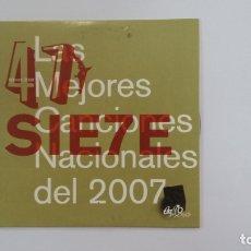 CDs de Música: 47 MEJORES CANCIONES LAS NACIONALES DEL 2007. CD. TDKV36. Lote 172117525
