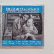 CDs de Música: HAY QUE VOLVER A EMPEZAR II - ARTISTAS UNIDOS EN DEFENSA DE LAS MUJERES MALTRATADAS - CD. TDKV36. Lote 172117802