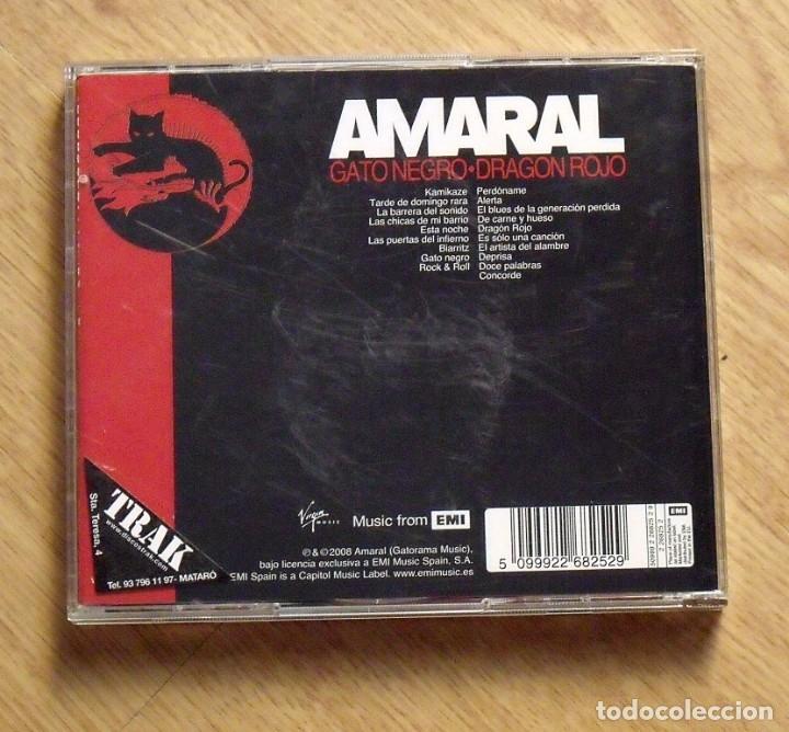 CDs de Música: Amaral. Gato negro. Dragón rojo. Virgin 2008. Buen estado. 2 CD. - Foto 2 - 172162820