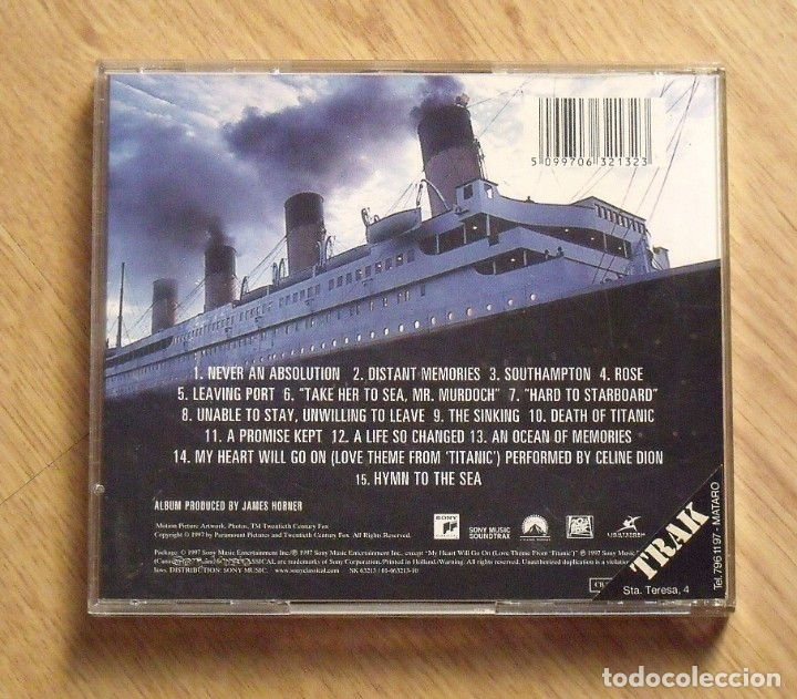 CDs de Música: Titanic. Music form the motion picture. Music composed and conducted by James Horner. Sony. 1997. - Foto 2 - 172167207