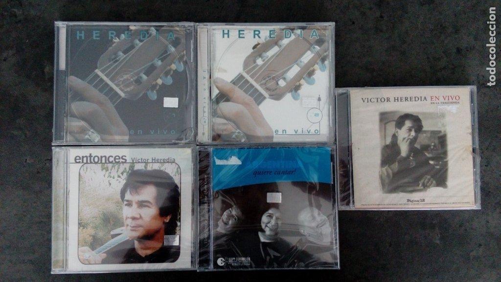 VÍCTOR HEREDIA. 'ENTONCES' + 'EN VIVO 1 Y 2' + 'EN LA TRASTIENDA' + 'ARGENTINA QUIERE CANTAR' (Música - CD's Otros Estilos)