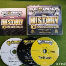 CDs de Música: SCORPIA THE HISTORY 10 ANIVERSARIO. Lote 172230744