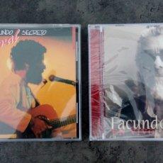 CDs de Música: FACUNDO CABRAL EN VIVO: 'SECRETO' (LUNA PARK, BUENOS AIRES, 1987) + 'EN VIVO' (UNIVERSIDAD DE LIMA). Lote 172230793