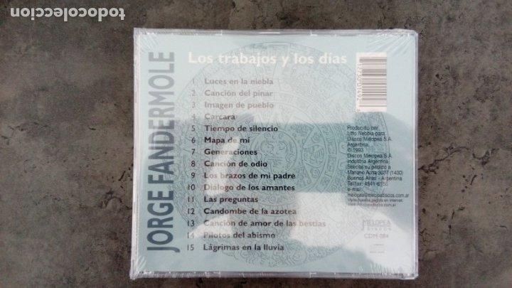 CDs de Música: Jorge Fandermole: Los trabajos y los días (CD) - Foto 2 - 160566762