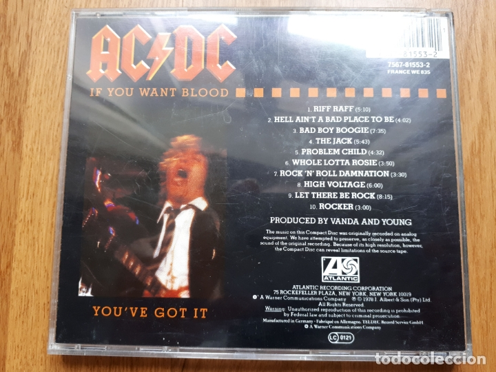 CDs de Música: AC/DC - If you want blood youve got it - 1987 - Foto 3 - 172249544