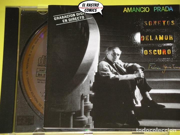 AMANCIO PRADA, SONETOS DEL AMOR OSCURO, CANTAUTOR, CD AÑO 1988, POEMAS DE FEDERICO GARCÍA LORCA (Música - CD's Melódica )