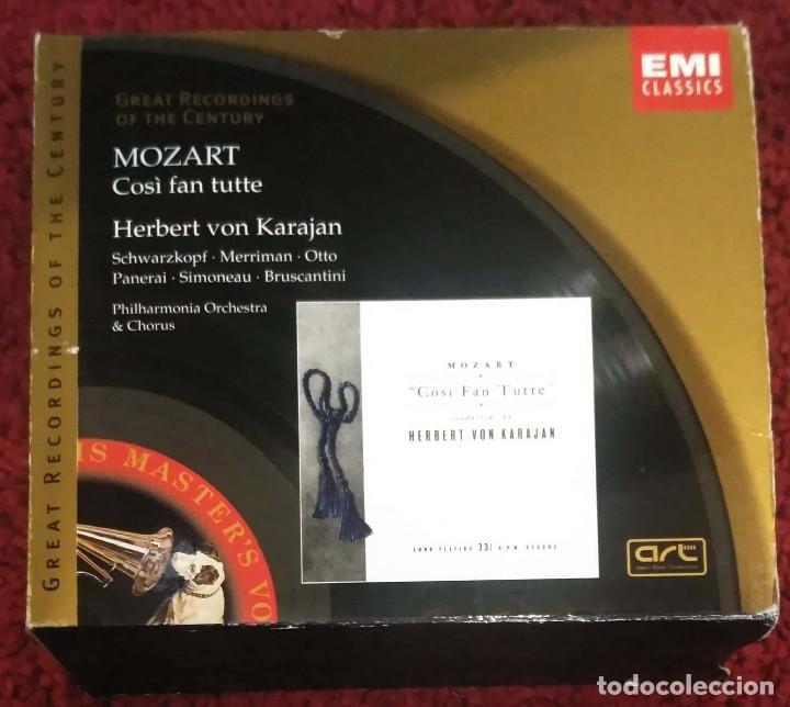 MOZART (COSÌ FAN TUTTE) HERBERT VON KARAJAN - PHILHARMONIA ORCHESTRA & CHORUS - 3 CD'S 1999 (Música - CD's Clásica, Ópera, Zarzuela y Marchas)