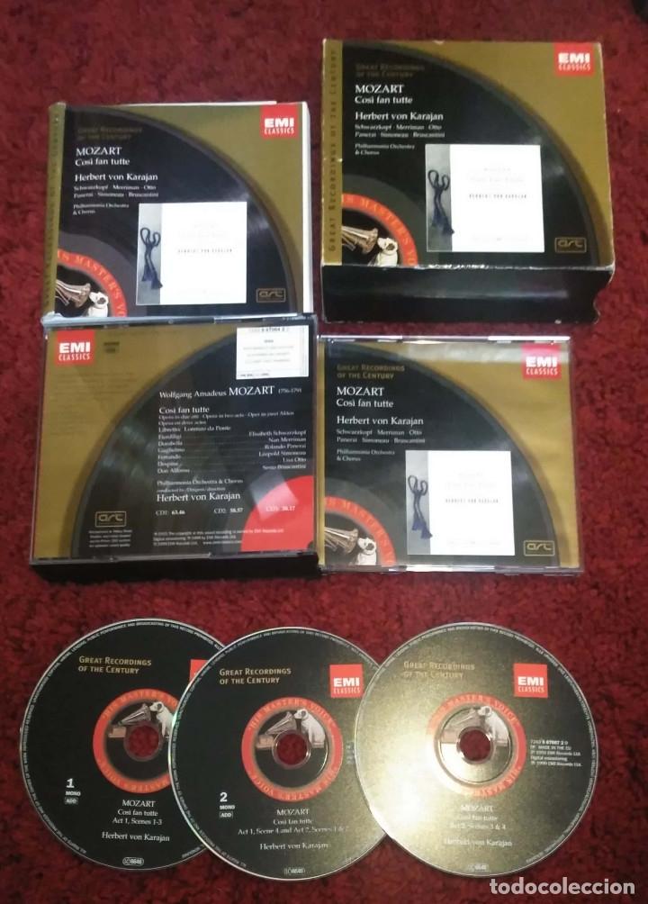 CDs de Música: MOZART (Così Fan Tutte) HERBERT VON KARAJAN - PHILHARMONIA ORCHESTRA & CHORUS - 3 CDs 1999 - Foto 3 - 172251719