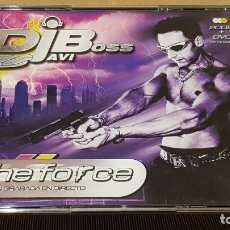 CDs de Música: DJ JAVI BOSS / THE FORCE / GRABADO EN DIRECTO / 2 CDS + DVD / CALIDAD LUJO.. Lote 172279157