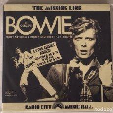 CDs de Música: DAVID BOWIE - THE MISSING LINK - 2 CD, NEW YORK 1974. Lote 172300939