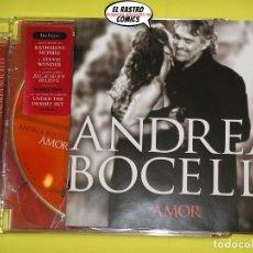 CDs de Música: ANDREA BOCELLI, AMOR, CD + DVD, EDICIÓN ESPECIAL, 1 TEMA INÉDITO, DUETOS C. AGUILERA, STEVIE WONDER. Lote 172313317