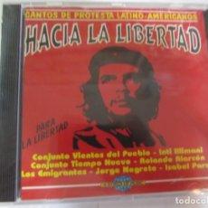 CDs de Música: CD HACIA LA LIBERTAD CANTOS DE PROTESTA LATINO-AMERICANOS NUEVO PRECINTADO. Lote 172333867