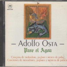 CDs de Música: ADOLFO OSTA CD PASE EL AGOA 1993 CANÇONS DE TROBADORS, JOGLARS I MÚSICS DE PALAU. Lote 172342402