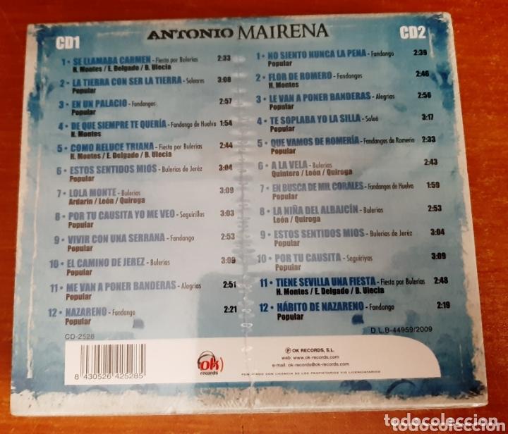 CDs de Música: 2 Cd Antonio Mairena, Sentimiento Flamenco. (Art. Nuevo y Precintado) - Foto 2 - 172365033