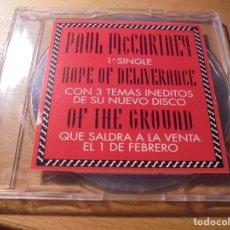 CDs de Música: RAR PROMO PAUL MCCARTNEY. HOPE OF DELIVERANCE. MADE IN SPAIN. 4 TRACKS. Lote 172377942