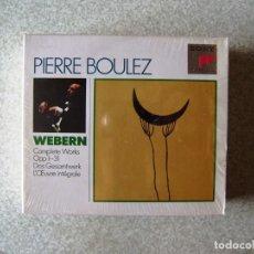 CD di Musica: ANTON WEBERN.LE OPERE COMPLETE... PIERRE VOULEZ...3 CD´S...COMO NUEVOS. Lote 172399034