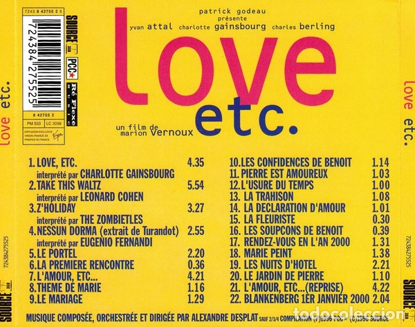 CDs de Música: LOVE, ETC. / Alexandre Desplat CD BSO - Foto 2 - 172425393