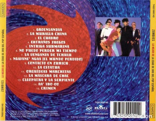 CDs de Música: ZOMBIES - ZOMBIES - SERIE LO MEJOR DE LA EDAD DE ORO DEL POP ESPAÑOL - Foto 2 - 172582889