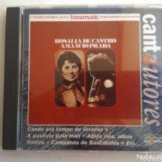 CDs de Música: CD AMANCIO PRADA/ROSALÍA DE CASTRO. Lote 172729930