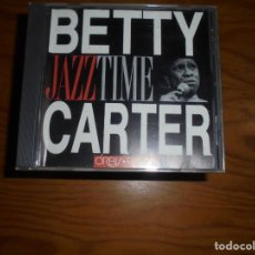 CDs de Música: BETTY CARTER. JAZZ TIME. ORBIS FABBRI, 1992. CD. IMPECABLE (#). Lote 172825808
