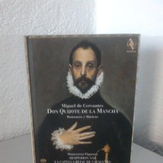 CDs de Música: MIGUEL DE CERVANTES, DON QUIJOTE DE LA MANCHA, ROMANCES Y MUSICAS. JORDI SAVALL, MONTSERRAT FIGUERAS. Lote 172877905
