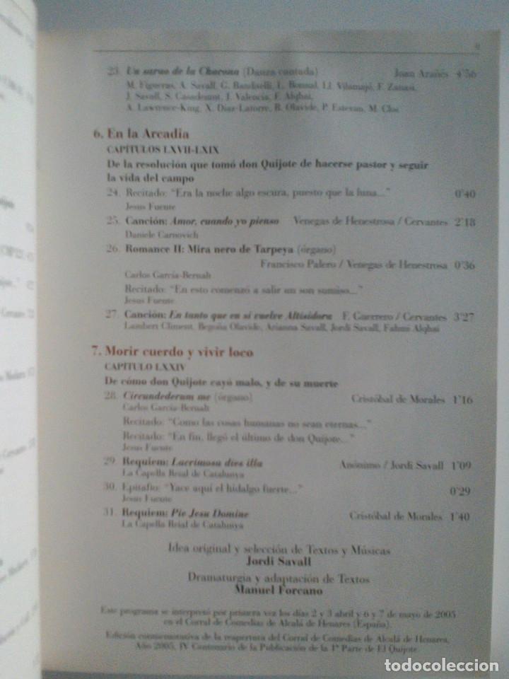 CDs de Música: MIGUEL DE CERVANTES, DON QUIJOTE DE LA MANCHA, ROMANCES Y MUSICAS. JORDI SAVALL, MONTSERRAT FIGUERAS - Foto 13 - 172877905