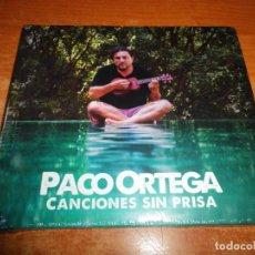 CDs de Música: PACO ORTEGA CANCIONES SIN PRISA CD ALBUM DIGIPACK PRECINTADO CONTIENE 10 TEMAS. Lote 173092848