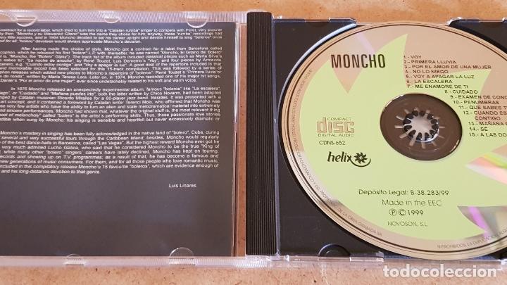 CDs de Música: MONCHO / MIS BOLEROS FAVORITOS / CD - HELIX-1999 / 15 TEMAS / CALIDAD LUJO. - Foto 2 - 173130328