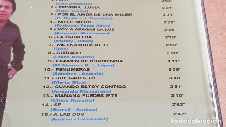 CDs de Música: MONCHO / MIS BOLEROS FAVORITOS / CD - HELIX-1999 / 15 TEMAS / CALIDAD LUJO. - Foto 4 - 173130328