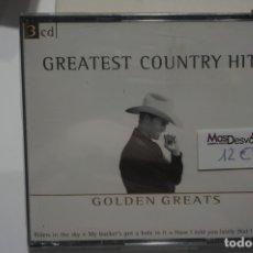 CDs de Música: TRIPLE CD NUEVO PRECINTADO - GREATEST COUNTRY HITS / GOLDEN GREATS. Lote 173251462