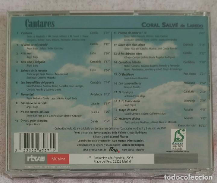 CDs de Música: CANTARES (CORAL SALVE DE LAREDO) CD 2006 RTVE Música - JOAN MANUEL SERRAT, PABLO NERUDA - Foto 2 - 173320095