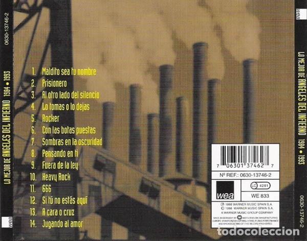 CDs de Música: ANGELES DEL INFIERNO - LO MEJOR DE ANGELES DEL INFIERNO 1984-1993 - Foto 2 - 173387190