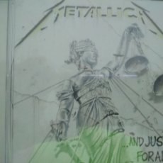 CDs de Música: METALLICA AND JUSTICE FOR ALL CD. Lote 173413950