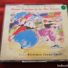 CDs de Música: DANSES POPULARS DE LES ILLES BALEARS (ANTONI MARTORELL I MIRALLES) 2 CD. Lote 173457277