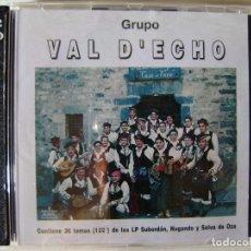 CDs de Música: GRUPO VAL D´ECHO..RECOPILATORIO..DOBLE CD..FOLK ARAGON.SUS 3 PRIMEROS DISCOS...DIFICIL. Lote 173473809