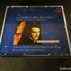 CDs de Música: VERDI. LA FORZA DEL DESTINO. FRANCESCO MOLINARI-PRADELLI. 3 CDS.. Lote 173561000