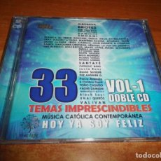CDs de Música: MUSICA CATOLICA CONTEMPORANEA VOL 1 - 2 CD 2017 LA VOZ DEL DESIERTO MANU ESCUDERO NICO MONTERO. Lote 173580689