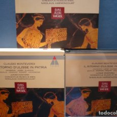 CDs de Música: CLAUDIO MONTEVERDI. IL RITORNO D´ULISSE IN PATRIA. HARNONCOURT. TELDEC, . Lote 173632985