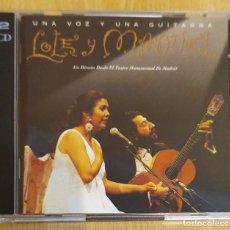 CDs de Música: LOLE Y MANUEL (UNA VOZ Y UNA GUITARRA - EN DIRECTO DESDE EL TEATRO MONUMENTAL DE MADRID) 2 CD'S 1995. Lote 173671352